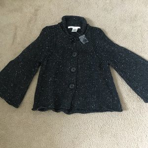 Max Studio Tops - Dressy black and gray coat